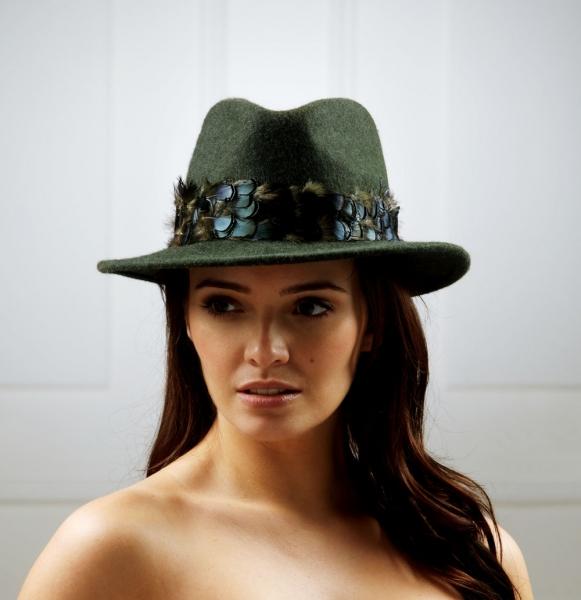Aquarius Fedora Hat by Hostie Hats