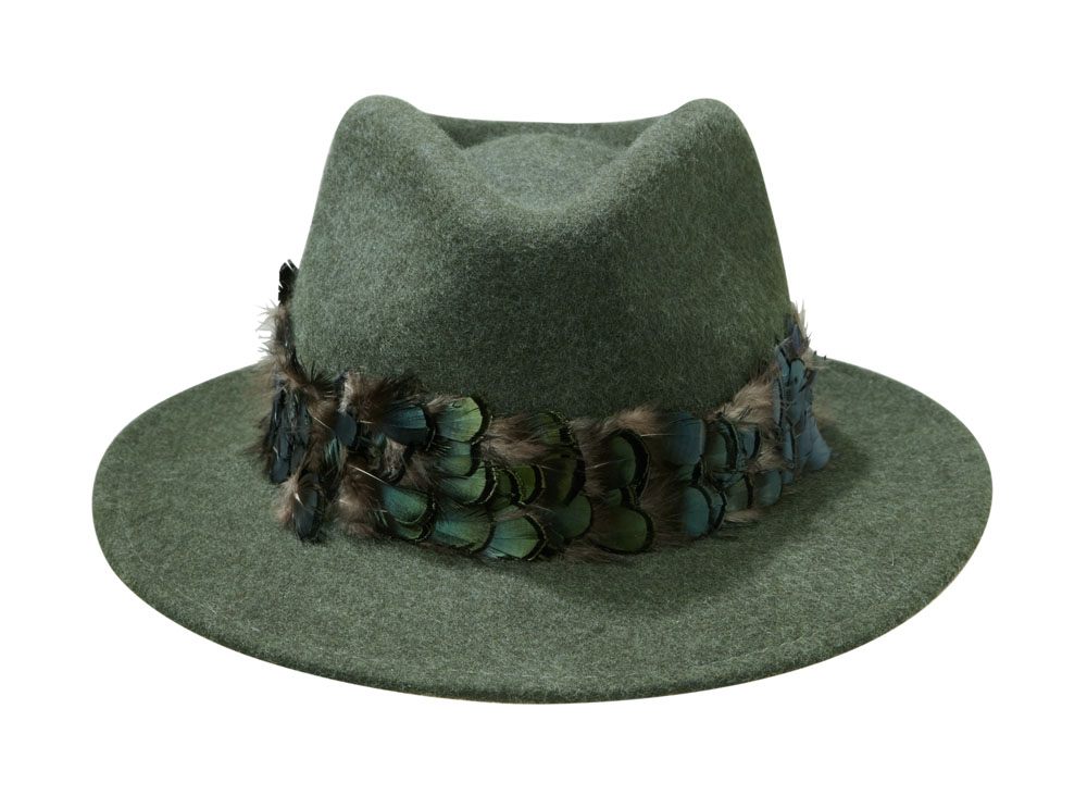 Aquarius Fedora hat by Hostie Hats