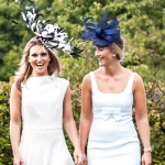 Badminton fascinator and Longleat hat by Hostie Hats