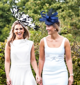 Badminton fascinator and Longleat hat