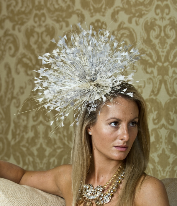 Chelsea fascinator by Hostie Hats