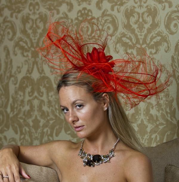 Clapham fascinator by Hostie Hats