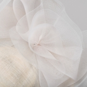 Harewood 12″ Dish Hat by Hostie Hats Detail
