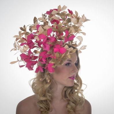 Browns Fascinator by Hostie Hats