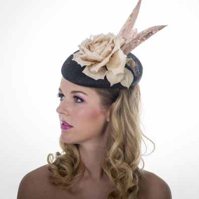 Goring Pillbox Hat by Hostie Hats