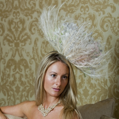 Sloane fascinator by Hostie Hats
