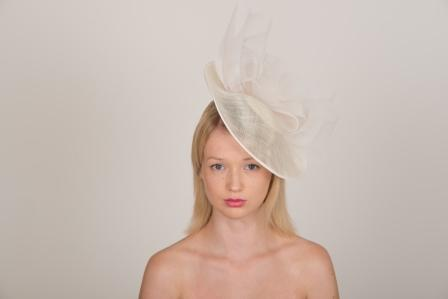 "Harewood 12"" Dish Hat by Hostie Hats"
