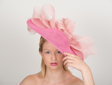 "Harewood 18"" Dish Hat by Hostie Hats"