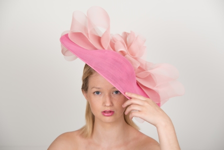 Harewood 18″ Dish Hat by Hostie Hats