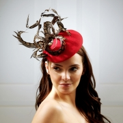 Mars Pillbox Hat by Hostie Hats