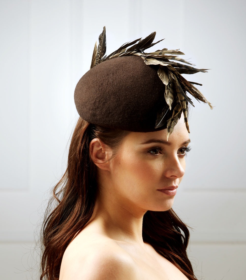 Neptune Pillbox Hat by Hostie Hats
