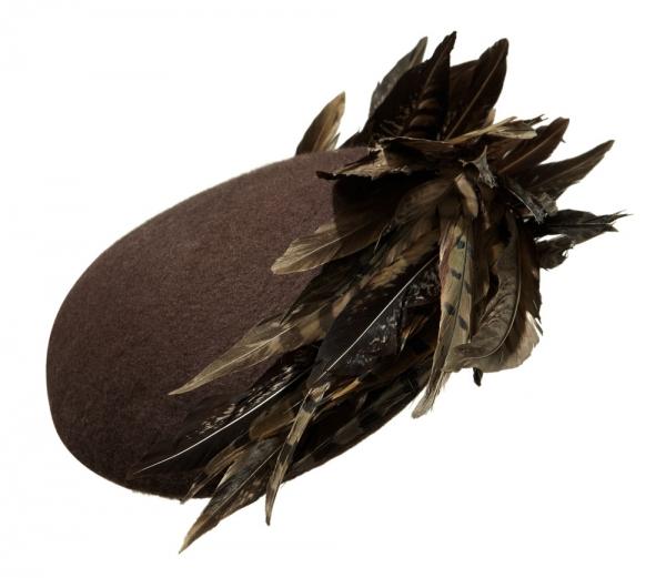 Neptune Pillbox Hat by Hostie Hats