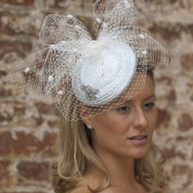 Orchid Pillbox Hat