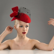 St Anton pill box hat by Hostie Hats