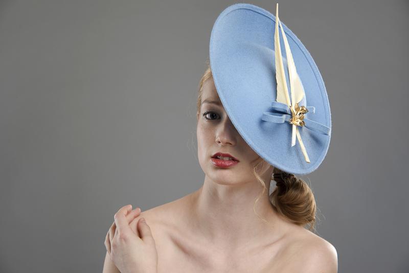 St Moritz dish hat by Hostie Hats