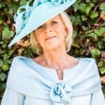 """Surrey twirl 18"""" saucer hat by Hostie Hats"""