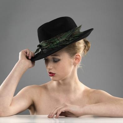 Tignes trilby hat black