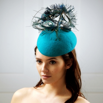 Virgo pillbox hat by Hostie Hats