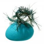 Virgo pillbox hat by Hostie Hats