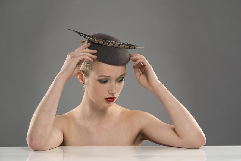 Verbier pillbox hat by Hostie Hats