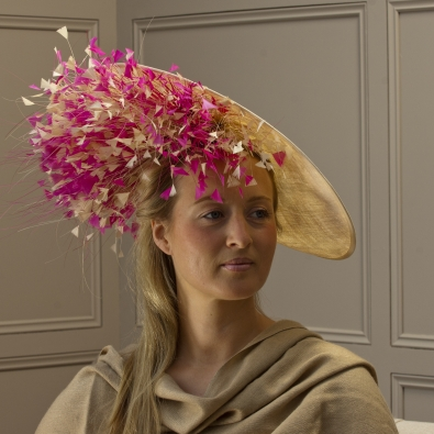 """Gloucestershire 18"""" dish hat by Hostie Hats"""