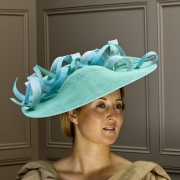 Surrey Twirl 18″ Saucer hat by Hostie Hats