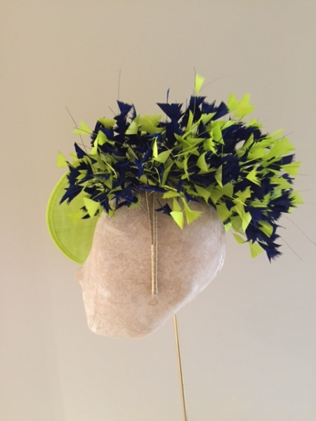 Gloucestershire 12″ dish hat side view by Hostie Hats
