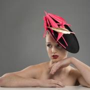 Courchevel dish hat by Hostie Hats
