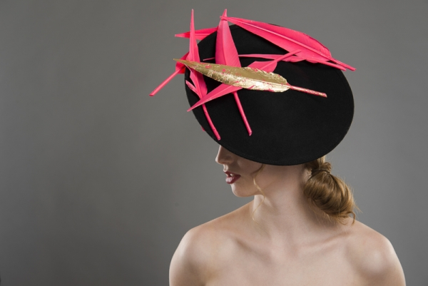 Courchevel dish hat by Hotie Hats