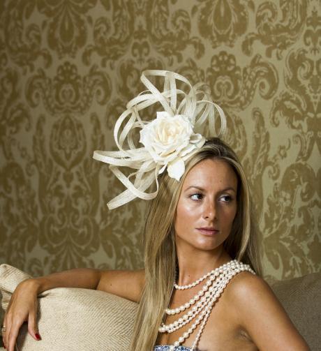 Pimlico fascinator by Hostie Hats