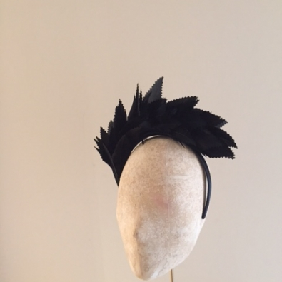 Lucy Feather Fascinator by Hostie Hats