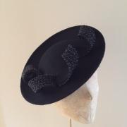 Moon black with black bead Hostie Hats