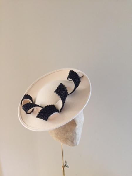 Moon ivory and balck bead Hostie Hats
