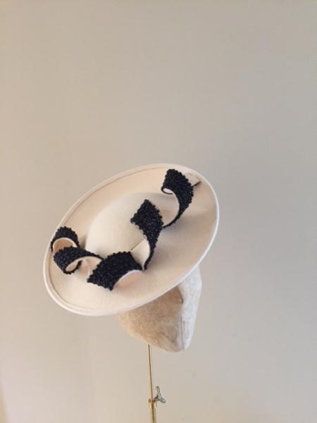 Moon ivory and balck bead Hostie Hats