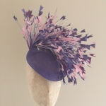 Blair pillbox hat purples by hostie hats