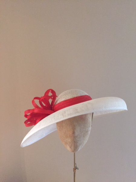 Burghley, Blood Orange, Ivory, Hostie Hats