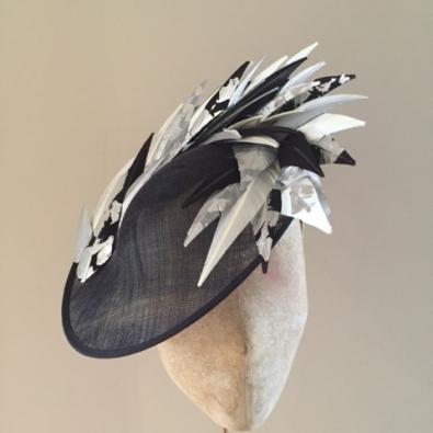 Langham 12 inch, Black, Silver, Hostie Hats