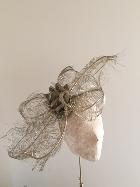 Clapham fascinator by Hostie Hats