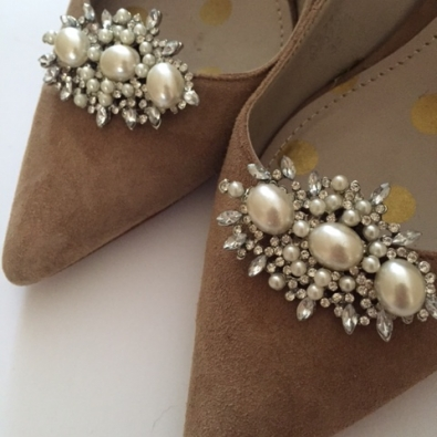 Annabel shoe clip crystals and pearls