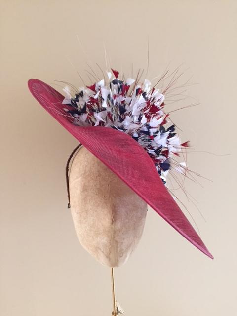 "Wiltshire 18"" Dish Hat by Hostie Hats"