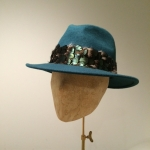 Aquarius Fedora by Hostie Hats
