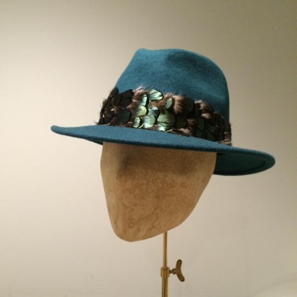 Aquarius Fedora by Hostie Hats