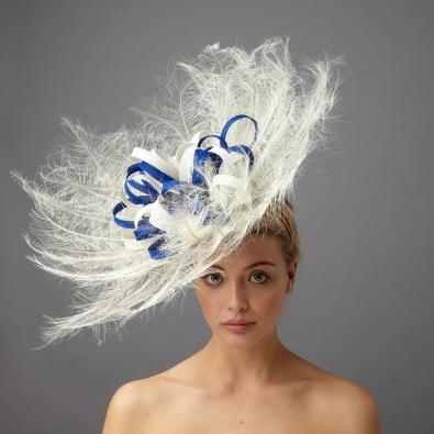 Blue Wedding Fascinators - Hostie Hats 92ff99eba03