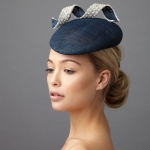 Monroe Pillbox hat by Hostie Hats