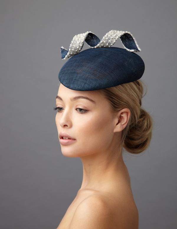 Monroe Pillbox hat by Hostie Hats