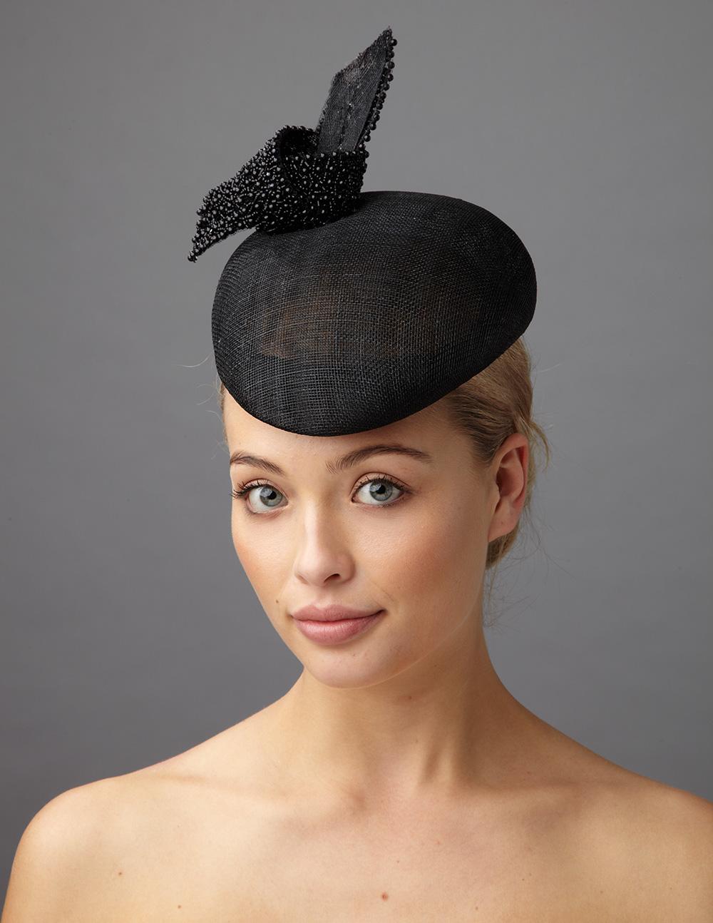 Oberon Pillbox hat by Hostie hats