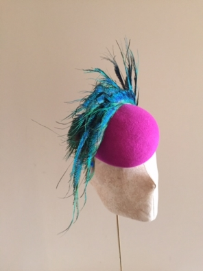 Bespoke Universe pillbox hat by Hostie Hats