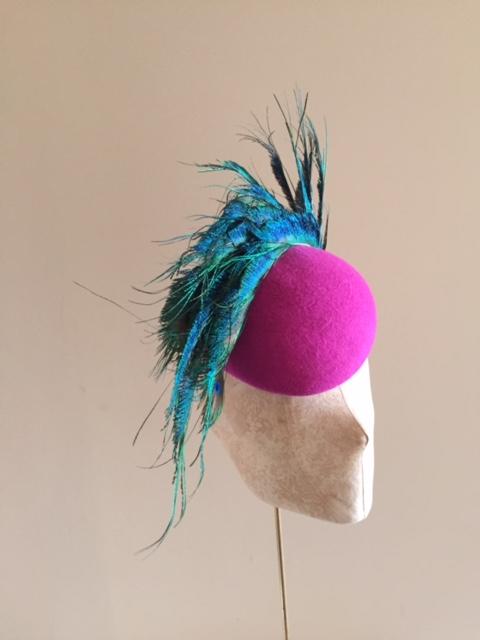 Bespoke Universe pillbox hat by Hostie Hats