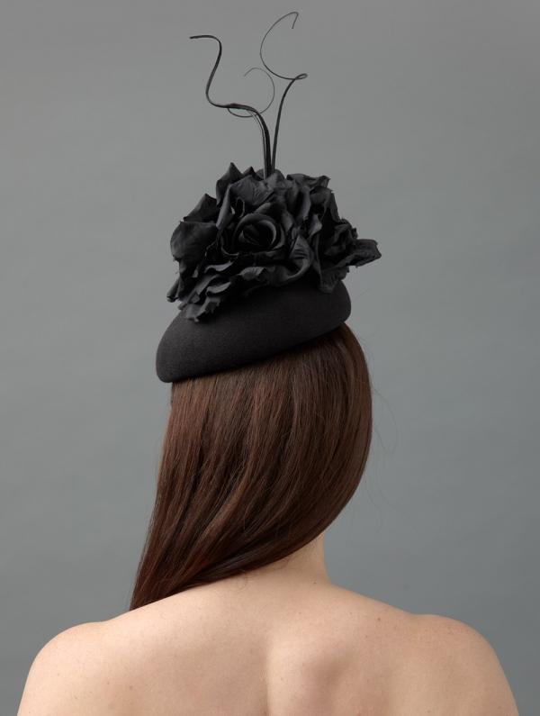 Basil pillbox hat rear Hostie Hats