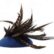 Paprika pillbox hat back